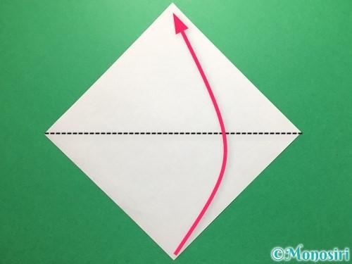 折り紙で立体的なてるてる坊主の折り方手順9