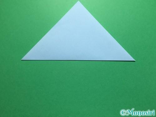 折り紙で立体的なてるてる坊主の折り方手順10