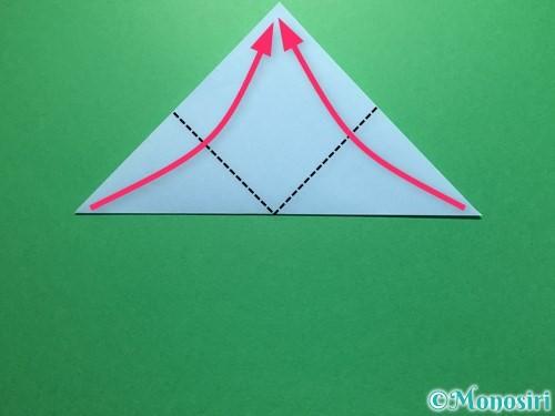 折り紙で立体的なてるてる坊主の折り方手順11