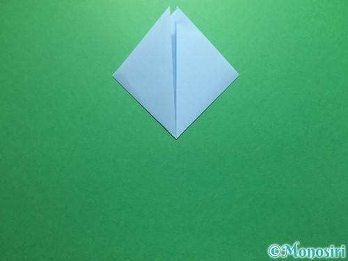 折り紙で立体的なてるてる坊主の折り方手順12