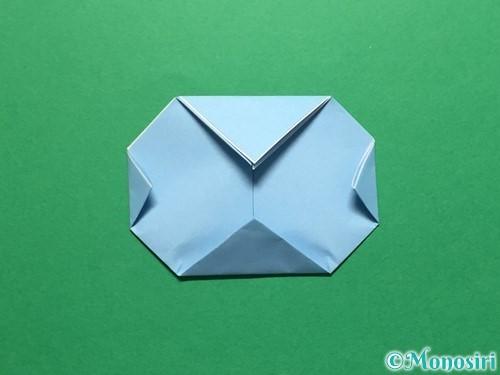 折り紙で立体的なてるてる坊主の折り方手順14