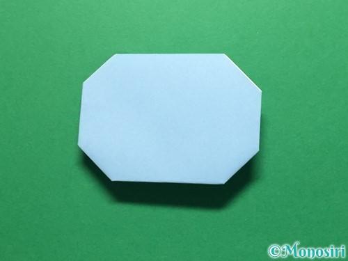 折り紙で立体的なてるてる坊主の折り方手順15