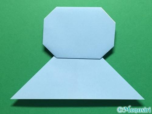 折り紙で立体的なてるてる坊主の折り方手順16