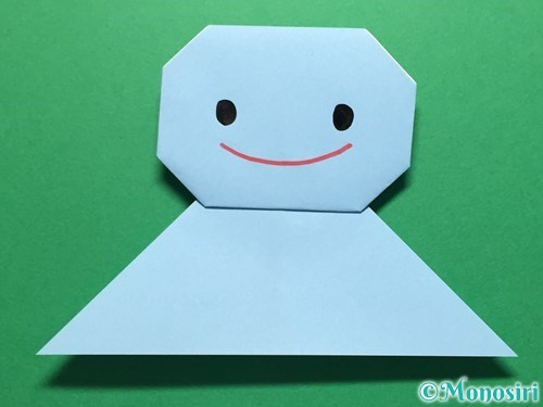 折り紙で立体的なてるてる坊主の折り方手順17