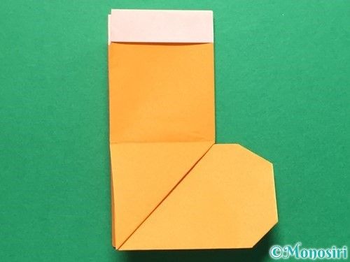 折り紙でレインブーツの折り方手順28