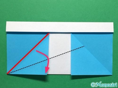 折り紙で立体的なレインブーツの折り方手順7