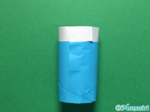 折り紙で立体的なレインブーツの折り方手順16