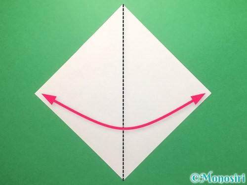 折り紙で雨のしずくの折り方手順1