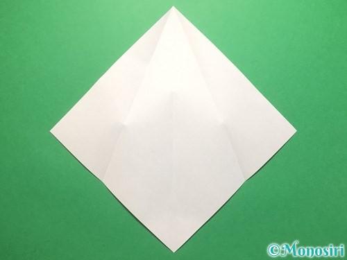 折り紙で雨のしずくの折り方手順4