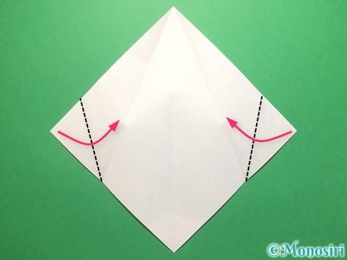折り紙で雨のしずくの折り方手順5