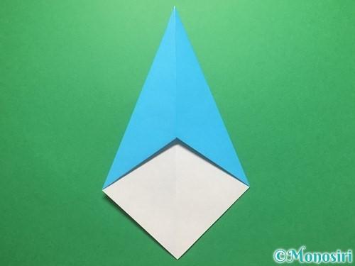 折り紙で雨のしずくの折り方手順8