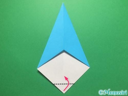 折り紙で雨のしずくの折り方手順9