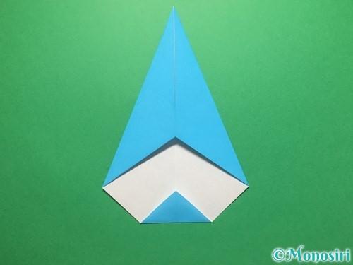 折り紙で雨のしずくの折り方手順10