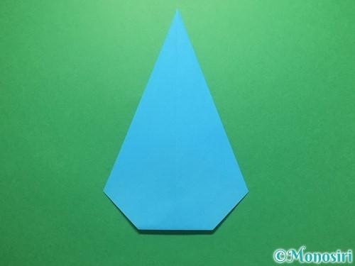 折り紙で雨のしずくの折り方手順11