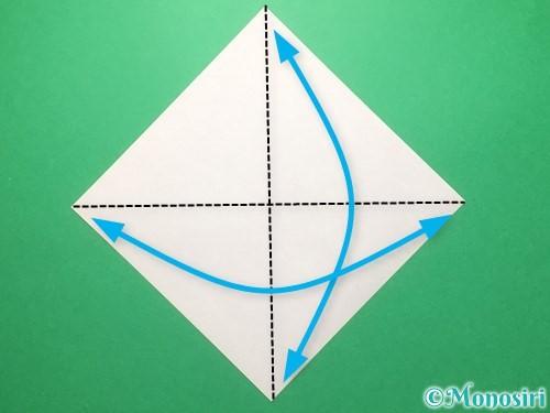 折り紙でランドセルの作り方手順1