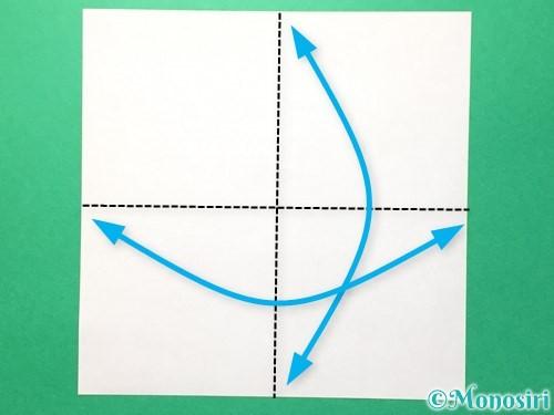 折り紙でメダルの折り方手順1