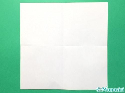 折り紙でメダルの折り方手順2