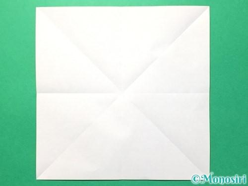 折り紙でメダルの折り方手順4