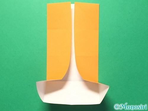折り紙でメダルの折り方手順9