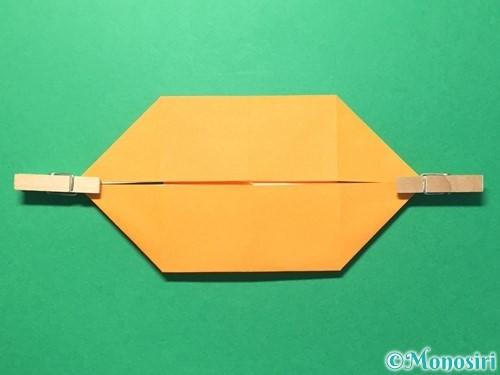 折り紙でメダルの折り方手順12