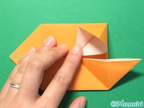折り紙でメダルの折り方手順16