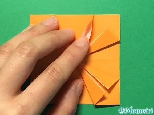 折り紙でメダルの折り方手順21