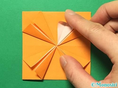折り紙でメダルの折り方手順22
