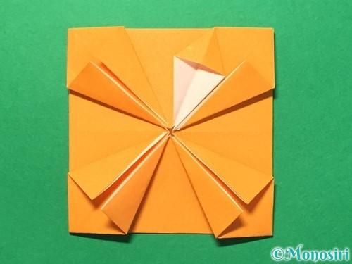 折り紙でメダルの折り方手順23