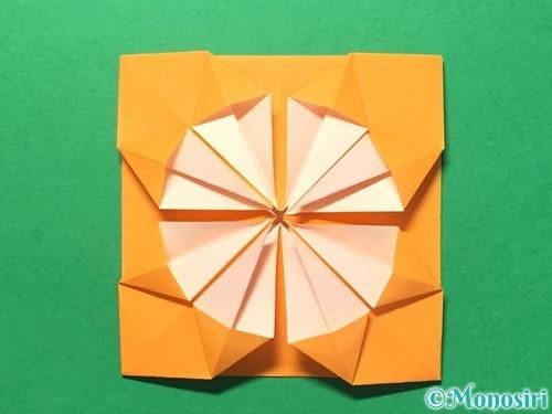 折り紙でメダルの折り方手順24