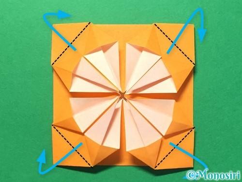 折り紙でメダルの折り方手順25