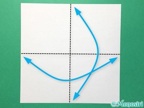 折り紙でひまわりの折り方手順27