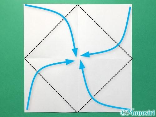 折り紙でひまわりの折り方手順29