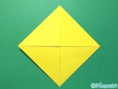 折り紙でひまわりの折り方手順30