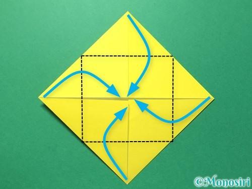 折り紙でひまわりの折り方手順31