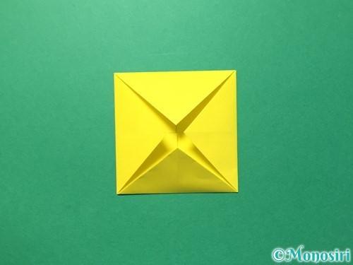 折り紙でひまわりの折り方手順32