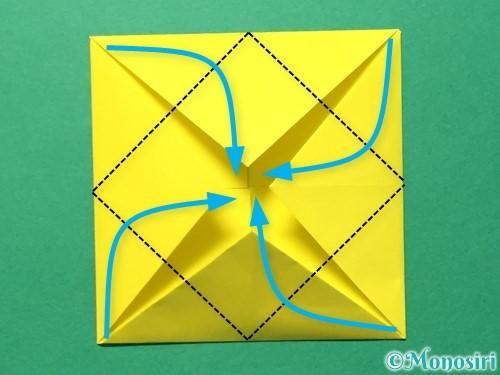 折り紙でひまわりの折り方手順33