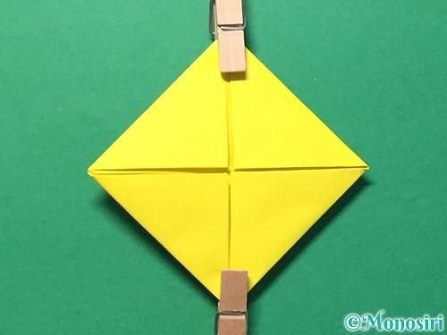 折り紙でひまわりの折り方手順34
