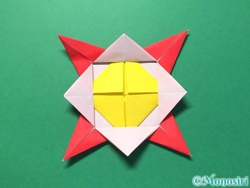 折り紙で花メダルの作り方手順38