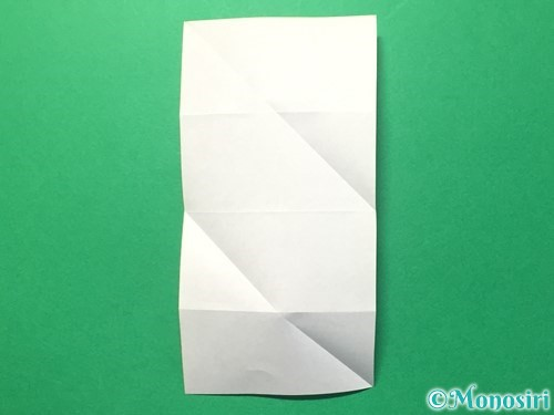 折り紙でハートのメダルの折り方手順10