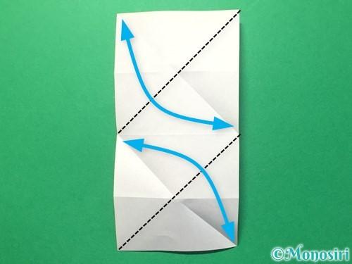 折り紙でハートのメダルの折り方手順11