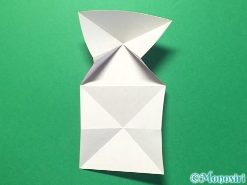 折り紙でハートのメダルの折り方手順13