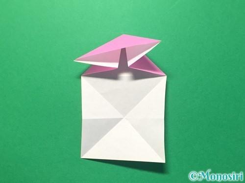 折り紙でハートのメダルの折り方手順14