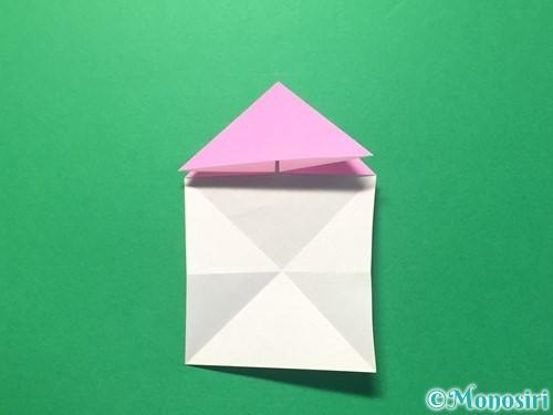 折り紙でハートのメダルの折り方手順15