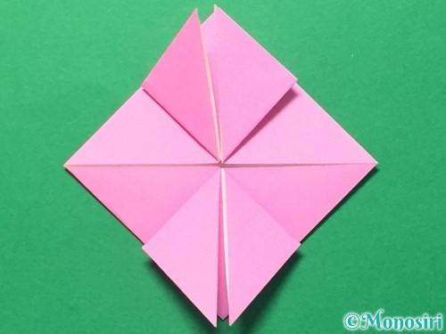 折り紙でハートのメダルの折り方手順18