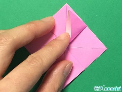 折り紙でハートのメダルの折り方手順19