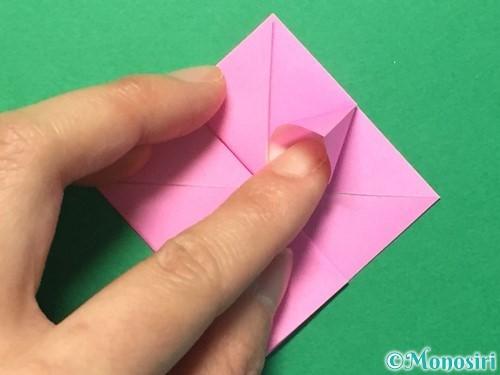 折り紙でハートのメダルの折り方手順20