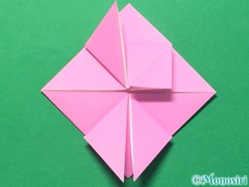 折り紙でハートのメダルの折り方手順21