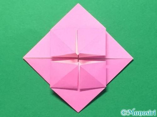 折り紙でハートのメダルの折り方手順22