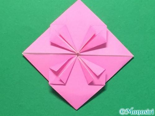 折り紙でハートのメダルの折り方手順24