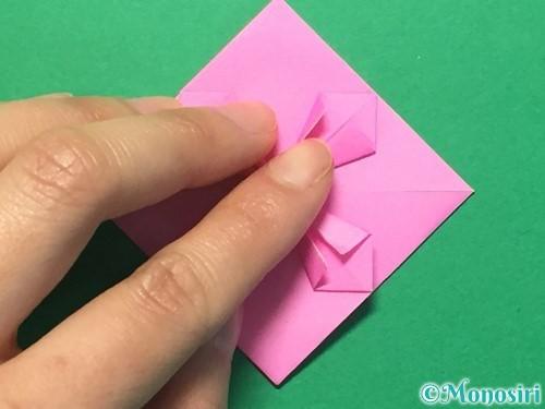 折り紙でハートのメダルの折り方手順25